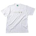 【メール便可】ロゴTシャツB(ホワイト×シルバー)