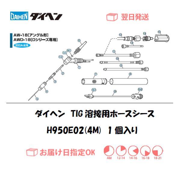 ダイヘン TIG溶接用ホースシース(4M) H950E02(AW-18,AWD-18用)