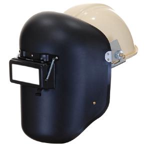 【当日出荷】溶接面 かぶり面 星光 PP金具付溶接面(ヘルメット用)P007 PP遮光面(ポリプロピレン樹脂) PP金具付ヘルメットA型