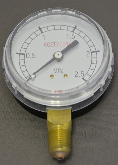 小池酸素 アセチレン調整器用圧力計(高圧側)