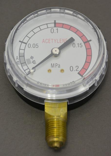 小池酸素 アセチレン調整器用圧力計(低圧側)