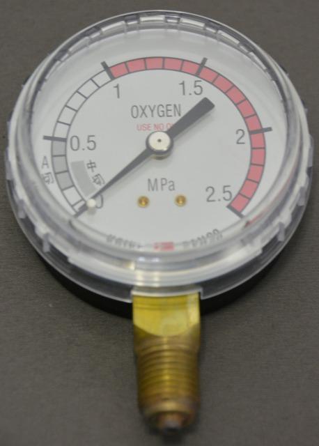 小池酸素 酸素調整器用圧力計(低圧側)