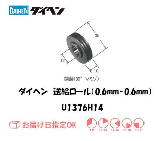 ダイヘン 送給ロール(0.6mm-0.6mm) U1369H14