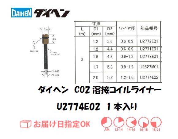 ダイヘン CO2溶接用コイルライナ U2774E02