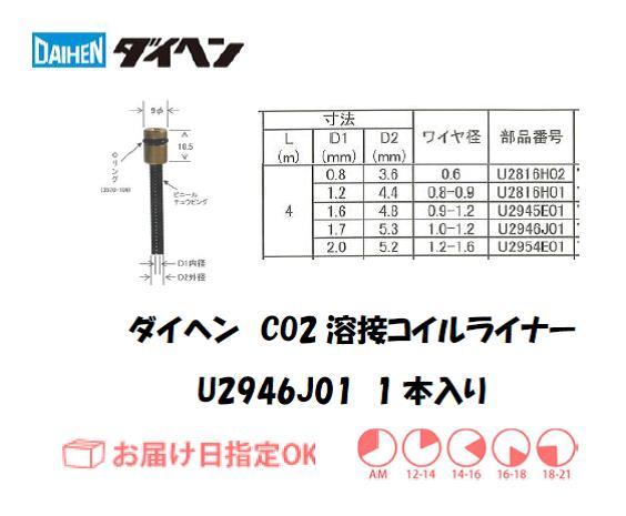 ダイヘン CO2溶接用コイルライナ U2946J01