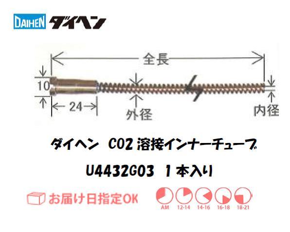 ダイヘン CO2溶接用インナーライナ(ガイドチューブ) U4432G03