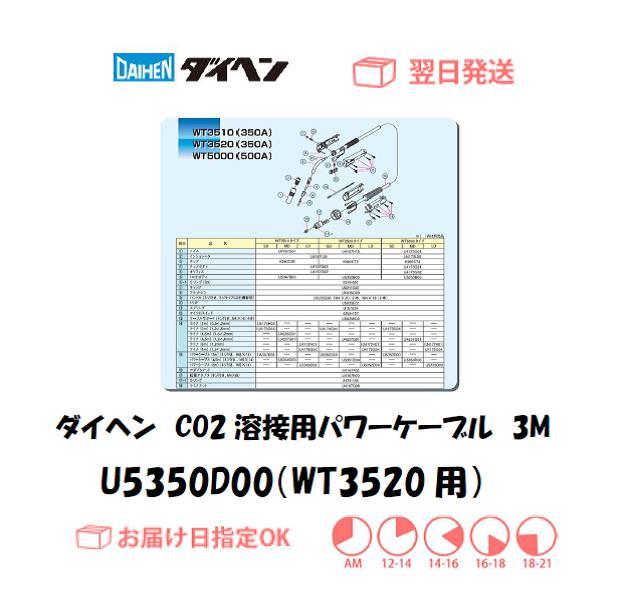 ダイヘン CO2溶接用パワーケーブル(WT3520-SD用) U5350D00 3M