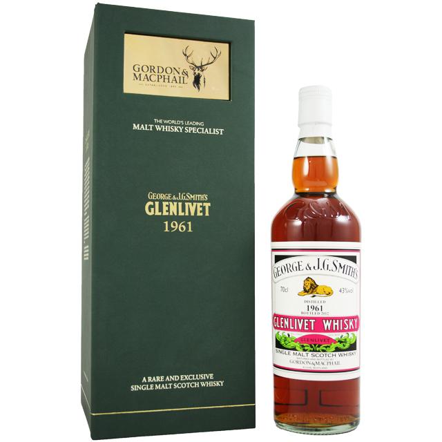 【甘いトロピカルフルーツ、摘みたての果実】グレンリベット 1961 50年 G&Mレアヴィンテージ 43% 700ml