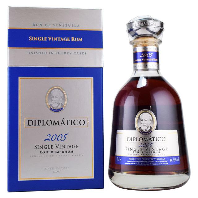【凝縮感のある香り、深みのある味わいで、ややドライ】ディプロマティコ 2005 シングルヴィンテージ 43% 700ml