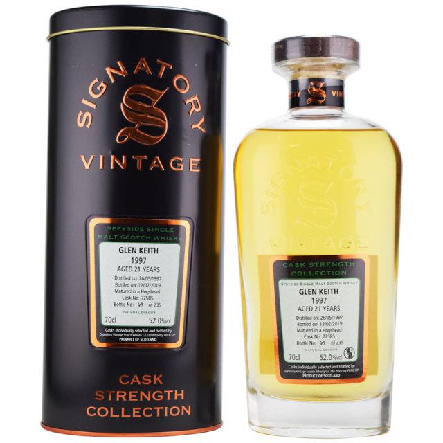 【甘いビスケットの香り、オレンジマーマレード】グレンキース 1997 21年 シグナトリー 52% 700ml