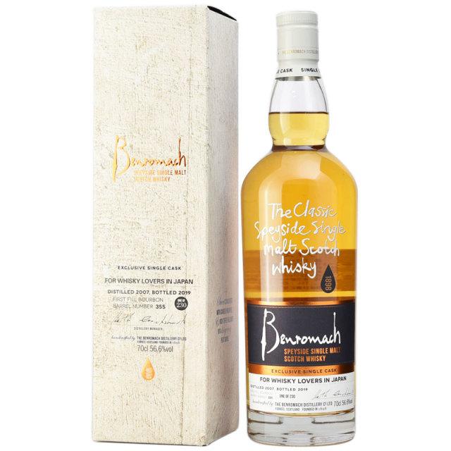 【甘いシトラス、砂糖漬けのパイナップルやリッチなトフィ】ベンロマック 2007 約12年 Whisky Lovers in Japan 56.6% 700ml