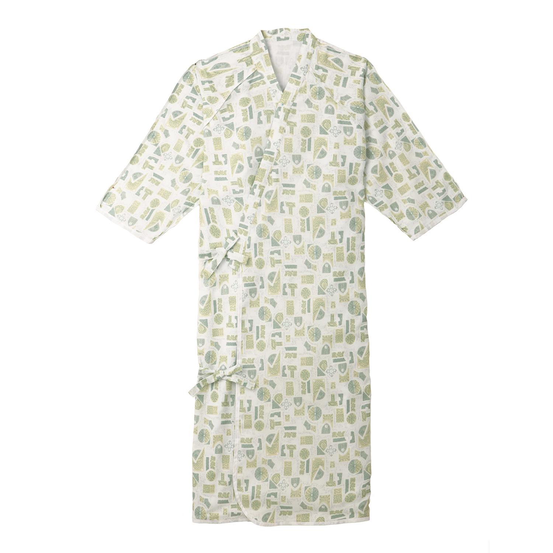 ANGEL(エンゼル)ソフトな肌ざわり 着脱しやすい浴衣タイプ パジャマ [ケアねまき S/M/Lサイズ/5074]