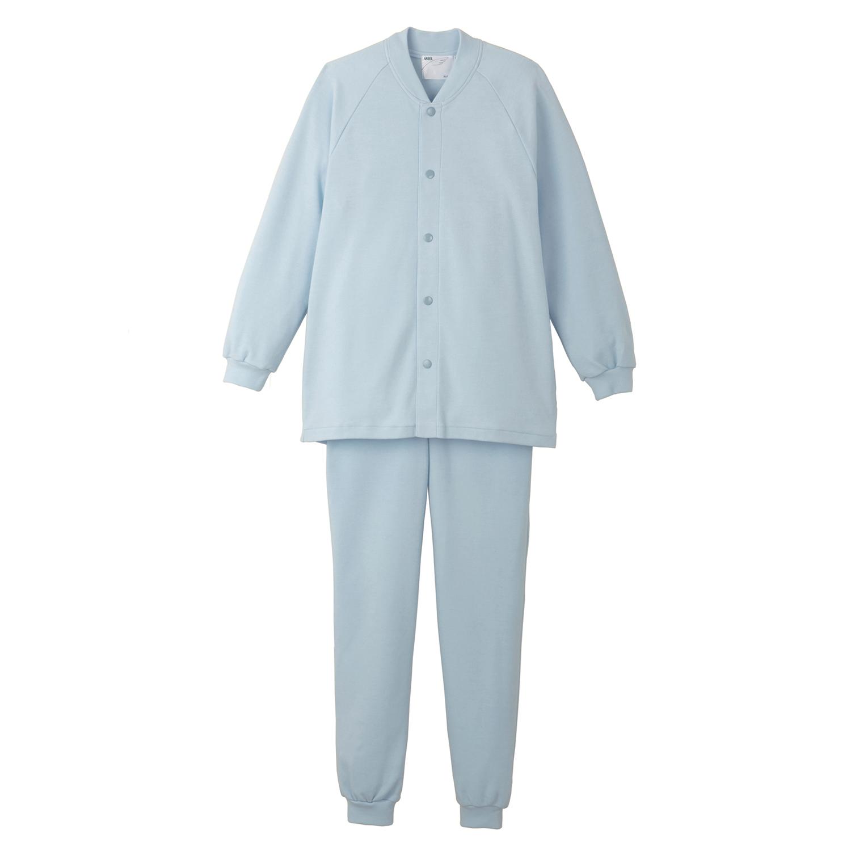 【送料無料】ANGEL(エンゼル)[スムーズパジャマ [上下セット]/5096]上着丈長め ドットボタンで着脱しやすい オールシーズンねまき
