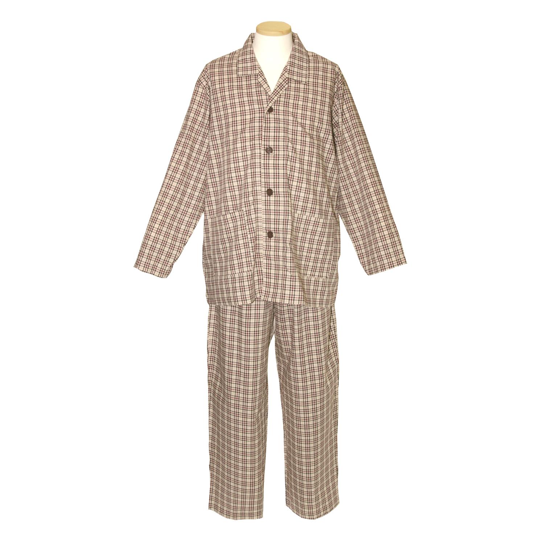 【送料無料】ANGEL(エンゼル)[やさしいパジャマ3 上下セット(紳士用) S/M/L/LLサイズ/NKY-570]綿100% 袖口オープン シニア 着やすい設計