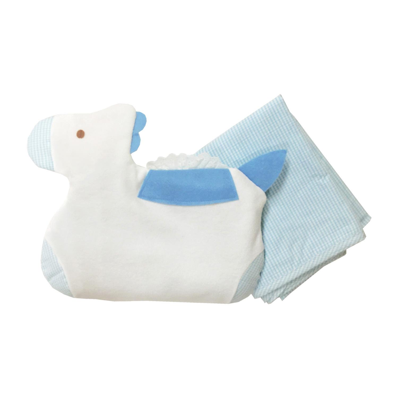 【ネコポス送料無料】アフガン兼用ベビーまくら 綿100% 日本製 赤ちゃん/YU1003