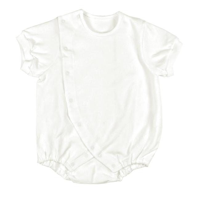 【ネコポス送料無料】前開き ボディースーツ 赤ちゃん 日本製 60-80cm/2701523