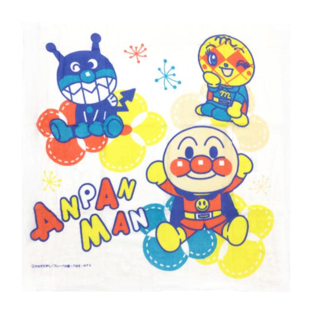 【送料無料】アンパンマン裏ガーゼ湯上りバスタオル 新生児 正方形/542700