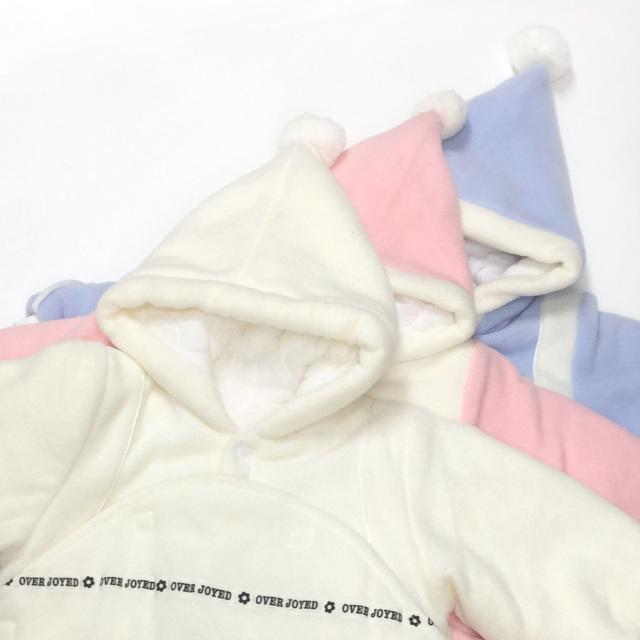 【送料無料】あったかフリース素材のサロペットおくるみ 冬用  着ぐるみ/NA104