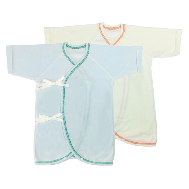 【ネコポス送料無料】産婦人科仕様のコンビ肌着2枚セット 女の子 男の子/NS119