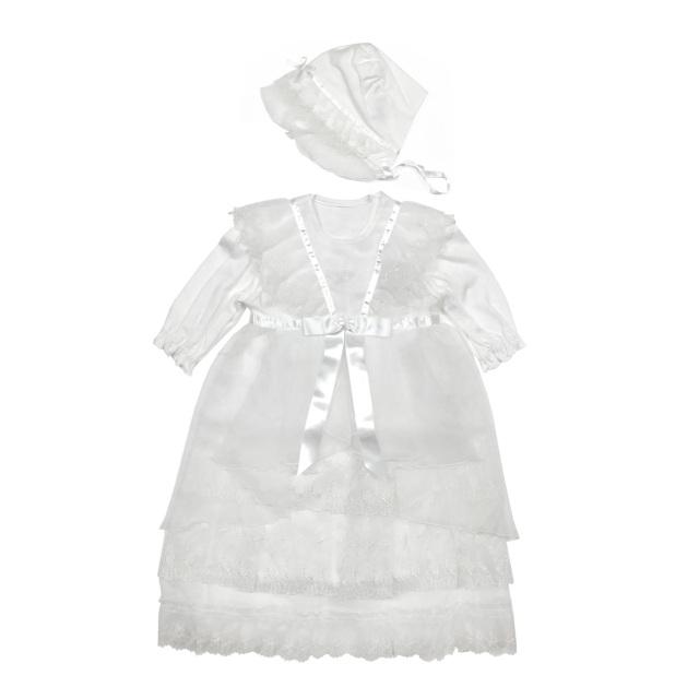 【送料無料】フード付セレモニードレス_Bタイプ 新生児 女の子 日本製/NT127