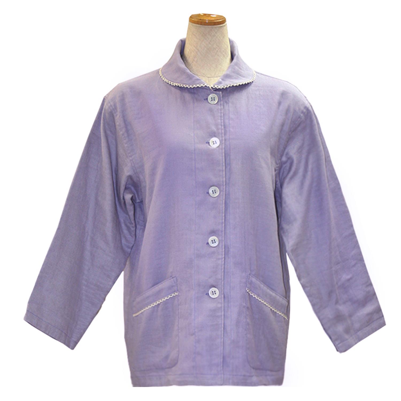 【送料無料】ANGEL(エンゼル)[やさしいパジャマ2 上着のみ(婦人用) S/M/L/LLサイズ/MST-511A]4層ガーゼ ダブルガーゼ コットン 綿100% 袖口オープン 大きめポケット ねまき シニア 床ずれ 褥瘡対策 デリケートな肌 敏感肌