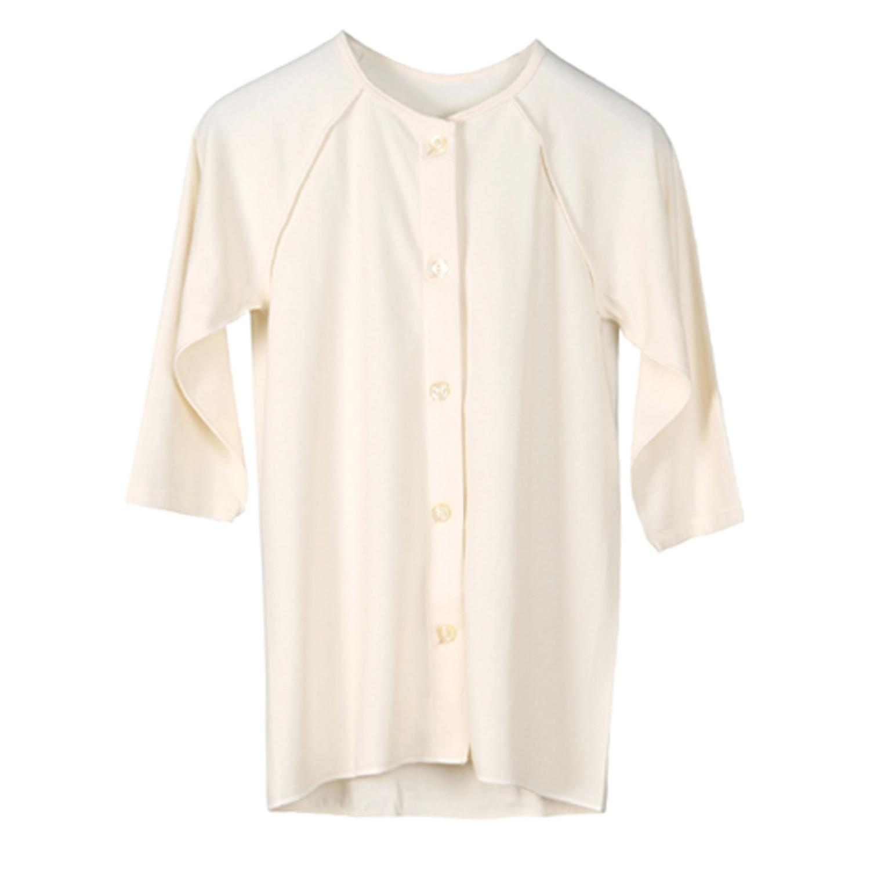 ANGEL(エンゼル)オーガニックコットン[前開き肌着 女性用(七分袖) /NKY-702] 乾燥肌・デリケート肌に 刺激の少ない肌着 シニア