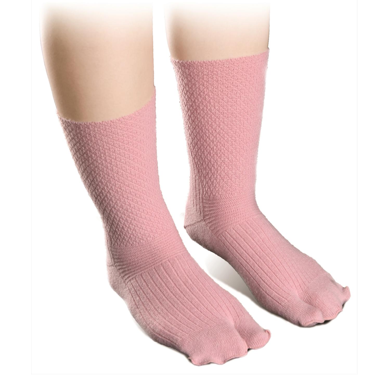 ANGEL(エンゼル) [やさしいくつ下 指付きウールくつ下 (22-24cm)/R-962]二本指 むくみ対策 良く伸びる 歩きやすい足袋型 あったかソックス シニア