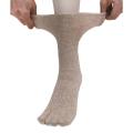 ANGEL(エンゼル)[やさしいくつ下 指付きウールくつ下 (24-26cm)/R-961]むくみ対策 良く伸びる 歩きやすい足袋型 あったかソックス シニア