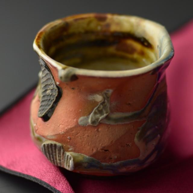 酒杯(灰釉)A_丹文窯 大西雅文作