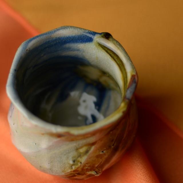 酒杯(灰釉)C_丹文窯 大西雅文作