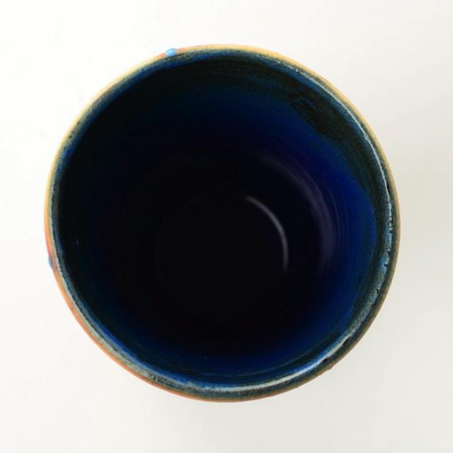 丹文窯_ビアカップ 青