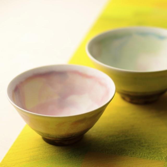 茶碗2個セット_丹泉窯 市野ちさと 作