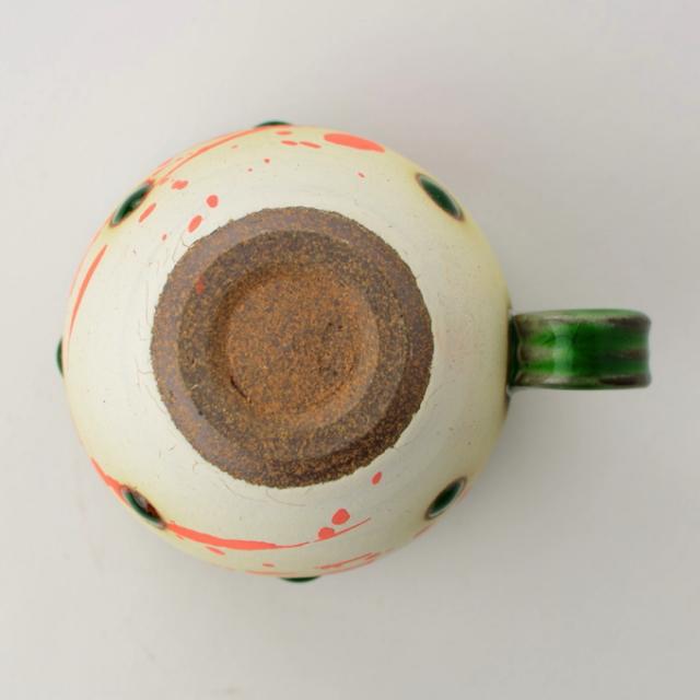丸八窯_緑釉ボウルカップ