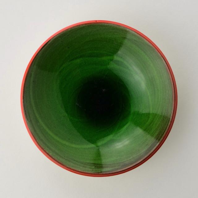 丸八窯_緑釉プレート