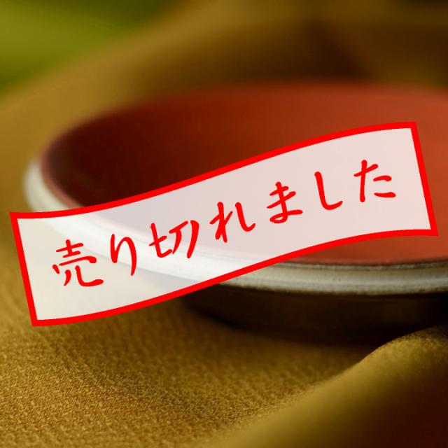 小皿(刷毛目)橙_丸八窯 清水義久 作