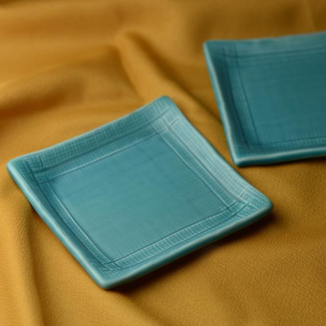 角小皿2枚組(青釉)
