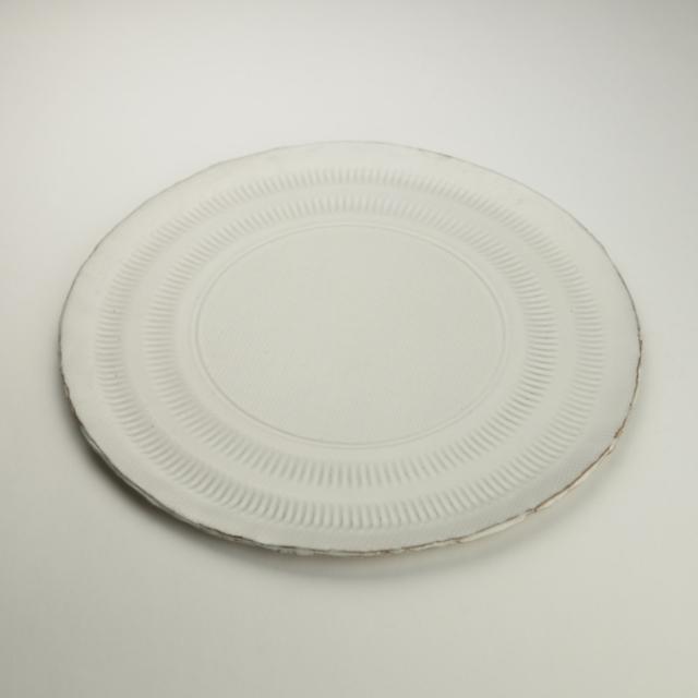 たさうら_白釉丸皿