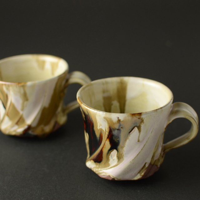 マグカップ2個セット(灰釉)_省三窯 市野秀作 作