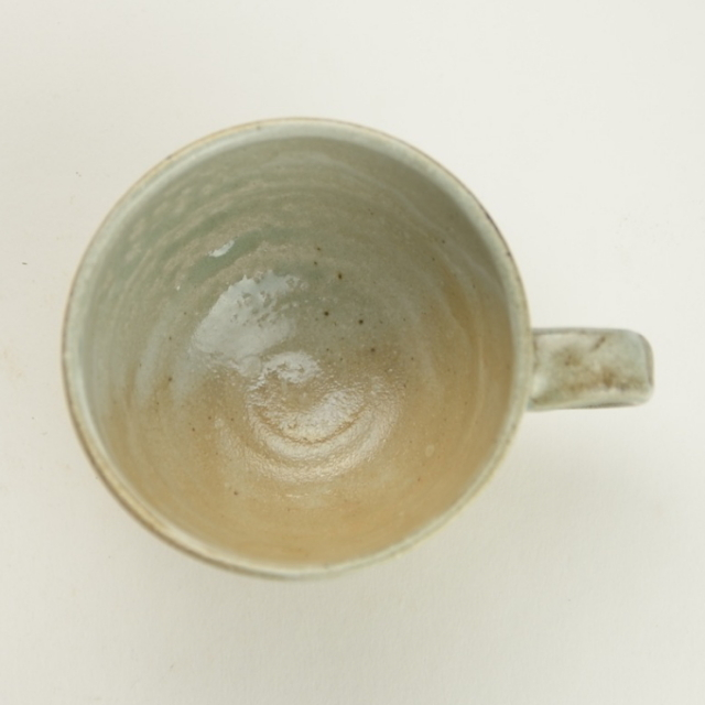 省三窯_青釉コーヒーカップ