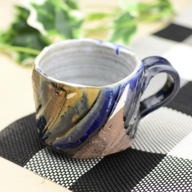 マグカップ(瑠璃釉)_省三窯 市野秀作 作
