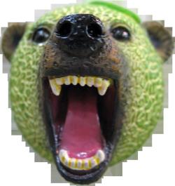 メロン熊 顔マグネット