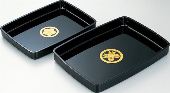 結納・通販-【送料無料】儀礼盆 15号家紋なし(名入れサービス)