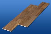 遮音フローリング LL45 ウオルナット天然木タイプ 雁形状 遮音等級LL45のマンション用アウトレット直貼り床材