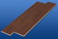 遮音フローリング LL45 アメリカンウオルナット 床暖対応 遮音等級LL45のマンション用アウトレット直貼り床材