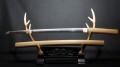 日刀保鑑定 保存刀剣 於越州友次 一尺九寸八分 刀身582g 全長88cm 日本刀 在銘 刀