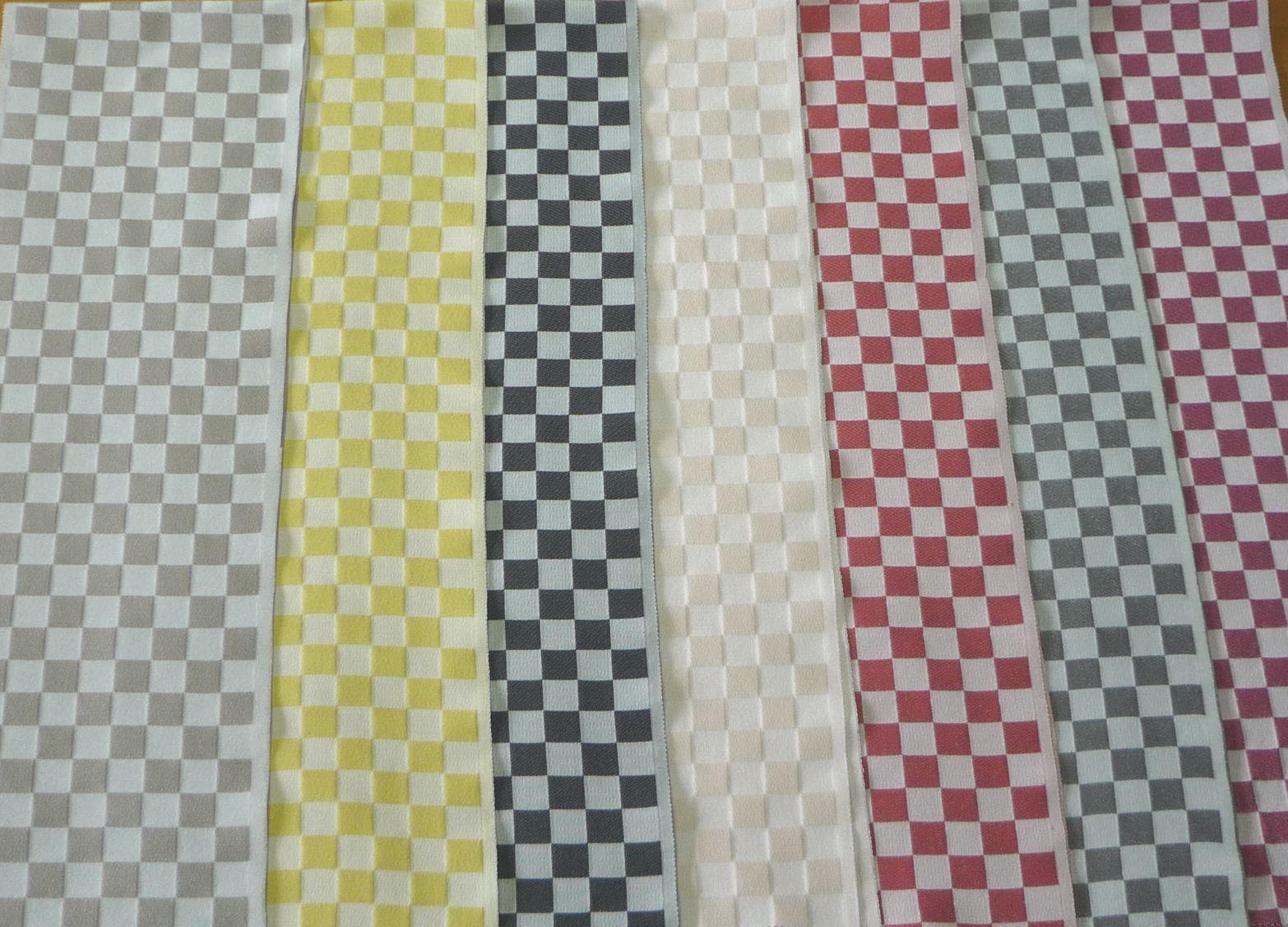 ポップでキュートな市松半衿 デニムきもののアクセントに♪【正規品】 絹40%使用