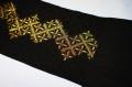 【正規品】風通織花菱に金縫取り帯揚・正絹・ふくれ織【特価】
