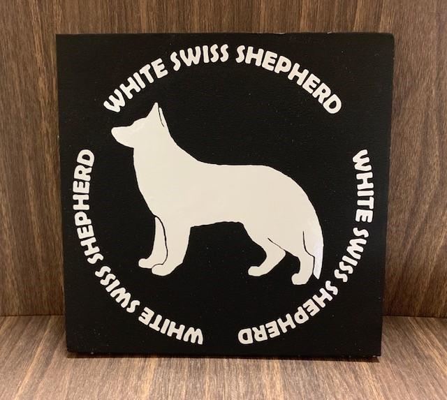 ホワイトスイスシェパードステッカー