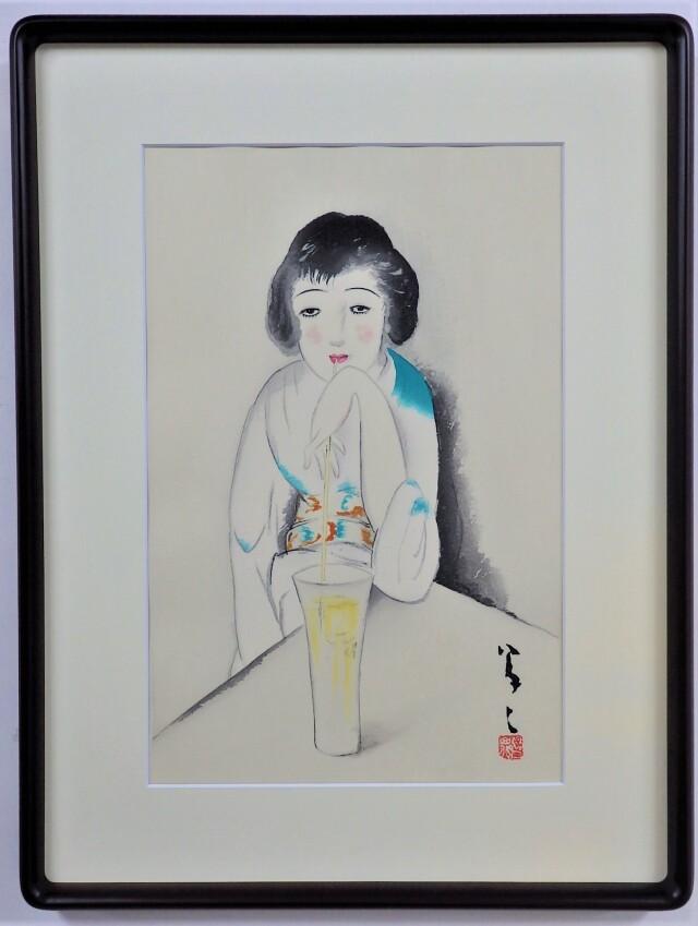 木版画「大正の女」