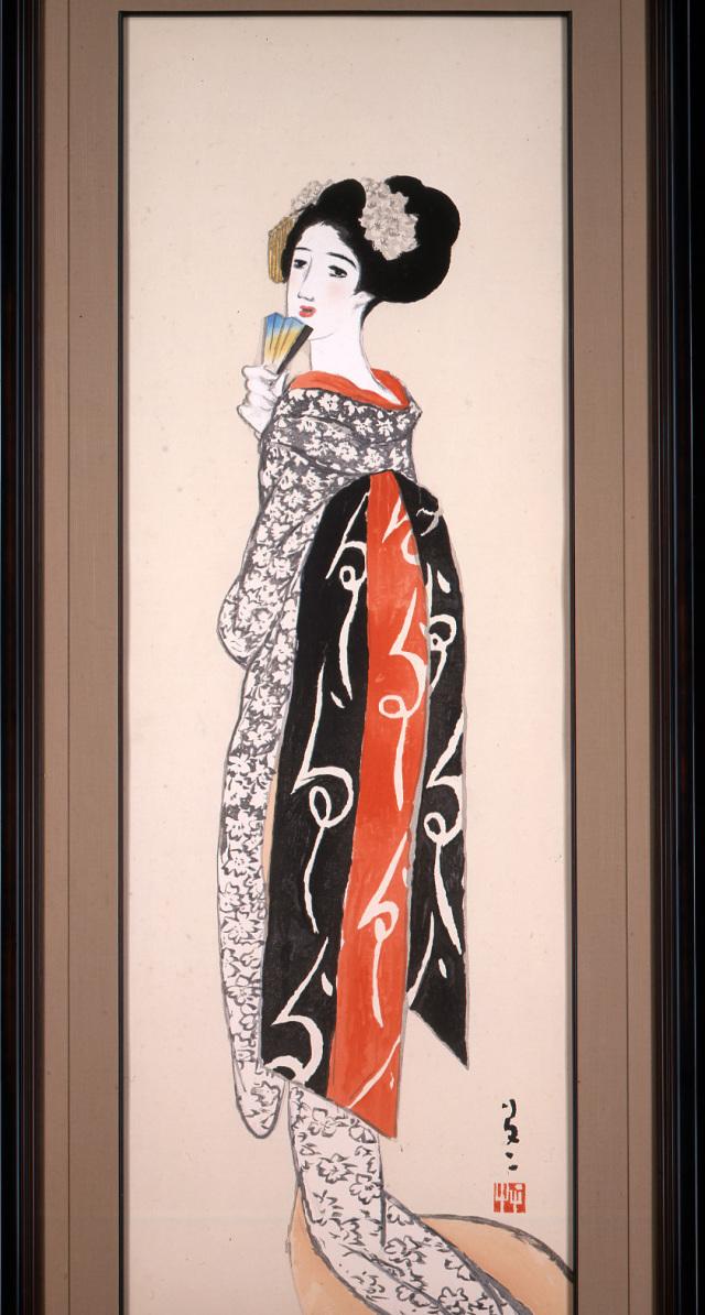 木版画「舞姫」